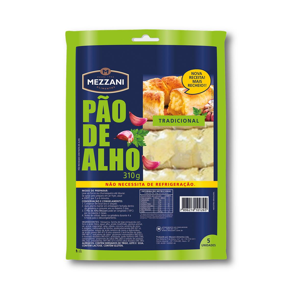 PÃO DE ALHO SEM REFRIGERAÇÃO 310G